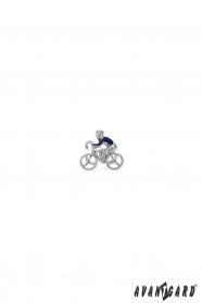 Revers-Anstecker mit Radfahrer