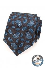 Herren Krawatte blau Paisley-Motive