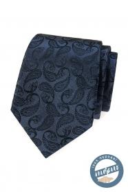 Blaue Seidenkrawatte mit Paisley-Muster in Geschenkbox
