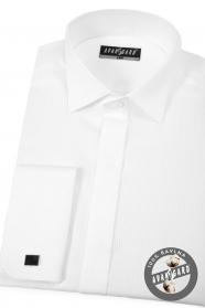 Luxus weißen Smokinghemd mit Doppelmanschetten