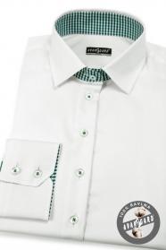 Weißes Damenhemd mit langen Ärmeln