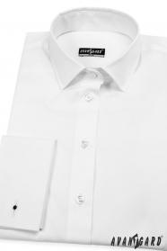 Weißes Damenhemd für Manschettenknöpfen