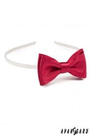 Mädchen Stirnband  mit roten glänzenden Fliege