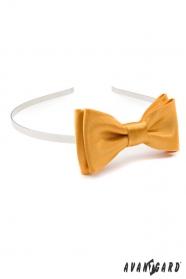 Mädchen Stirnband mit Fliege - Gold
