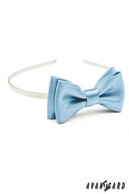 Mädchen Stirnband mit Fliege - Hellblau