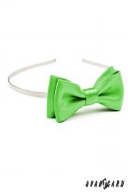 Mädchen Stirnband - glänzend grün