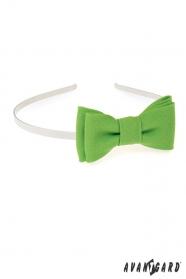 Mädchen Stirnband matt grün
