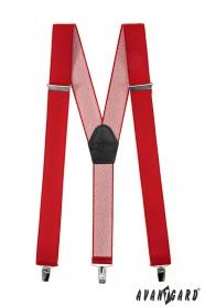 Rote Hosenträger Y-Form 3-Clip-Halterung