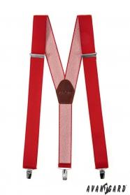Breite Hosenträger für Männer mit Clips rot