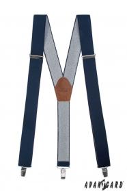 Breite Hosenträger in Elegantblau