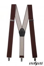 Braune Hosenträger Y-Form 3-Clip-Halterung