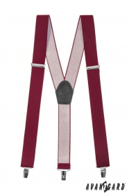 Bordeaux Hosenträger Y-Form 3-Clip-Halterung