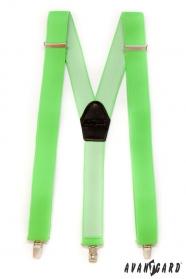 Grassgrüne Hosenträger dreipunkt in Y-Form