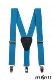 Jungen Hosenträger Y-Form 3-Clip-Halterung, Türkisfarbe