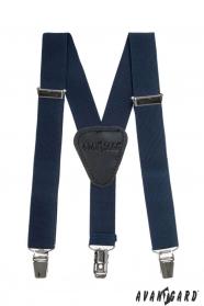 Jungen Hosenträger Y-Form 3-Clip-Halterung dunkelblau