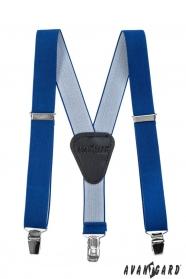 Jungen Hosenträger Y-Form 3-Clip-Halterung, Königsblau