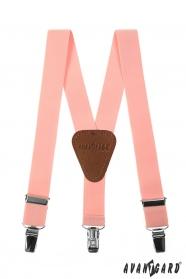 Rosa Junge Hosenträger mit Leder und Clips