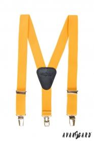 Jungen Hosenträger Y-Form 3-Clip-Halterung, Gelb
