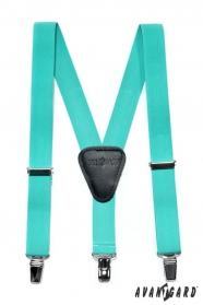 Jungen Hosenträger Y-Form 3-Clip-Halterung, Minzfarben