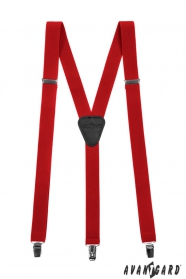 Rote Hosenträger 3-Clip-Halterung