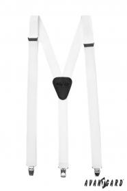 Weiße Y-Hosenträger 3-Clip-Halterung