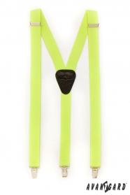 Hosenträger Y-Form 3-Clip-Halterung, gelbes Neon