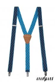 Kék nadrágtartó mintával