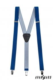 Königsblaue schmale Hosenträger Y-Form 3-Clip-Halterung