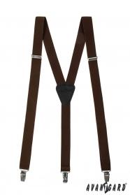 Braune Hosenträger 3-Clip-Halterung