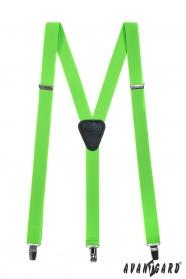 Neongrüne Hosenträger Y-Form 3-Clip-Halterung