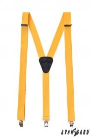 Gelbe Hosenträger in Y-Form 3-Clip-Halterung
