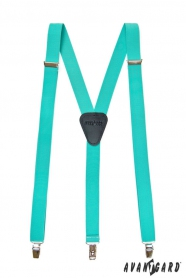 Hosenträger Y-Form 3-Clip-Halterung, Minze Farbe