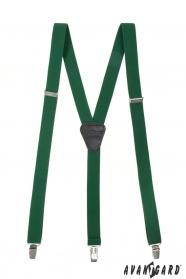 Smaragdgrün Herren-Hosenträger mit Metallclips