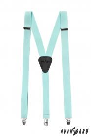 Hosenträger Y-Form 3-Clip-Halterung - Minze Farbe