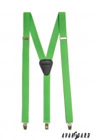 Grüne Hosenträger Y-Form 3-Clip-Halterung
