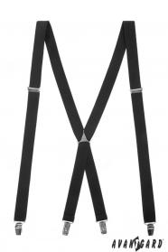 Schwarze Hosenträger mit Metallmittelteil