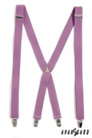 Hosenträger lila Farbe 4-Clip-Halterung
