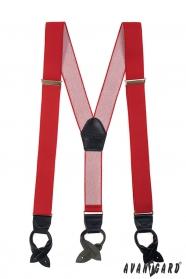 Roter Hosenträger Lederschlaufen