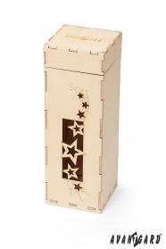 Geschenkbox aus Holz mit Sternen