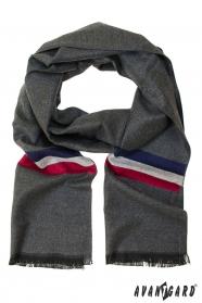 Grauer Schal mit Trikolore
