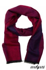 Rot-blau gemusterter Schal