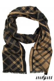 Schal mit braun-schwarzem Muster