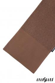 Brauner Schal mit schwarzem Muster