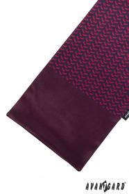 Burgund Schal mit rot-blauem Muster