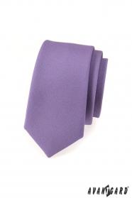 Schmale Krawatte   Lila mattiert
