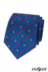 Blaue Krawatte mit roten Streifen Fußball