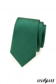 Grüne gepunktete schmale Krawatte