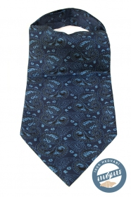 Blauer Ascot mit hellblauem Paisley-Muster