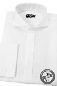 Herren Smokinghemd SLIM aus Baumwolle  Weiß