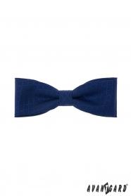 Dunkelblaue Herrenfliege aus Baumwolle mit blauem Muster